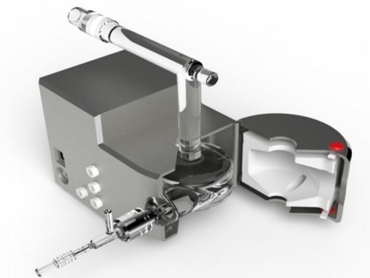 Разборная (полу-съемная) горелка для простой замены системы поджига плазмы в спектрометре ICP-5000