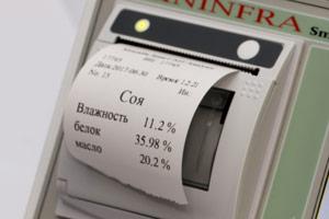Печать результатов измерений на чеке